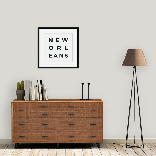 Minimalist New Orleans Print: Modern Art Prints by Culver and Cambridge