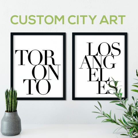 Custom City Print: Modern Art Prints by Culver and Cambridge