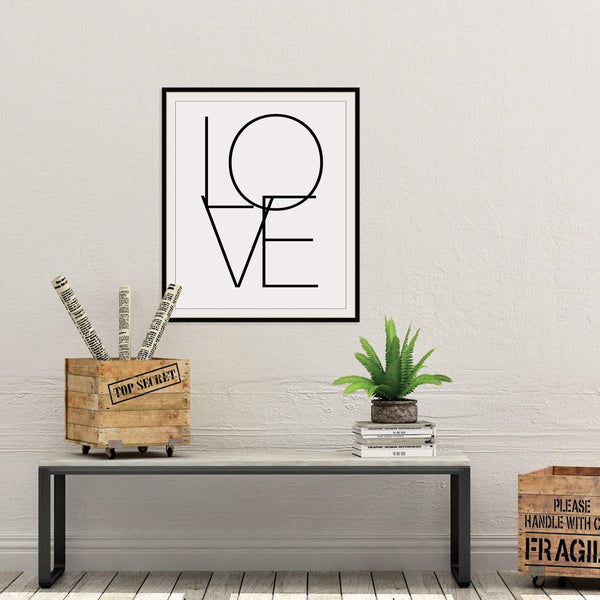 Love Abstract Print: Modern Art Prints by Culver and Cambridge