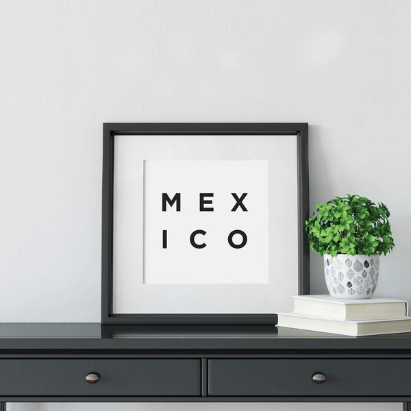 Minimalist Mexico Print: Modern Art Prints by Culver and Cambridge