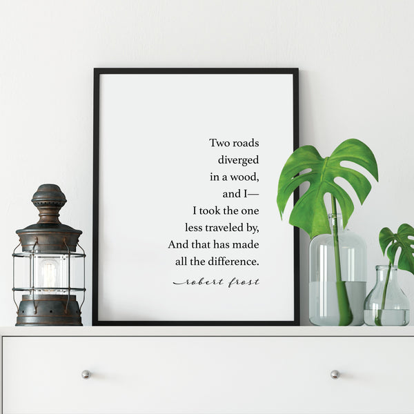Road Less Traveled Print: Modern Art Prints by Culver and Cambridge