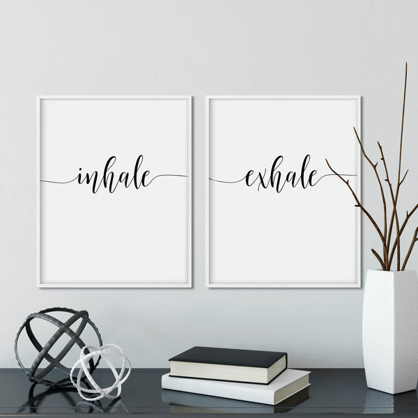 Inhale Exhale Print Set: Modern Art Prints by Culver and Cambridge