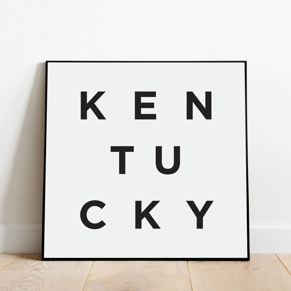 Minimalist Kentucky Print: Modern Art Prints by Culver and Cambridge