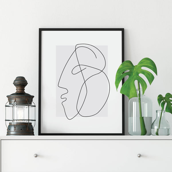 Profile Line Drawing Print: Modern Art Prints by Culver and Cambridge