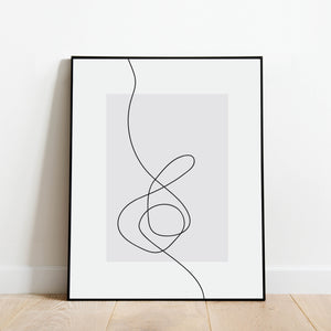 Music-Inspired Line Drawing Print: Modern Art Prints by Culver and Cambridge