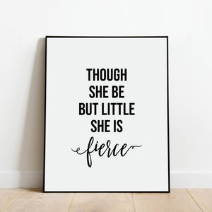 She is Fierce Print: Modern Art Prints by Culver and Cambridge