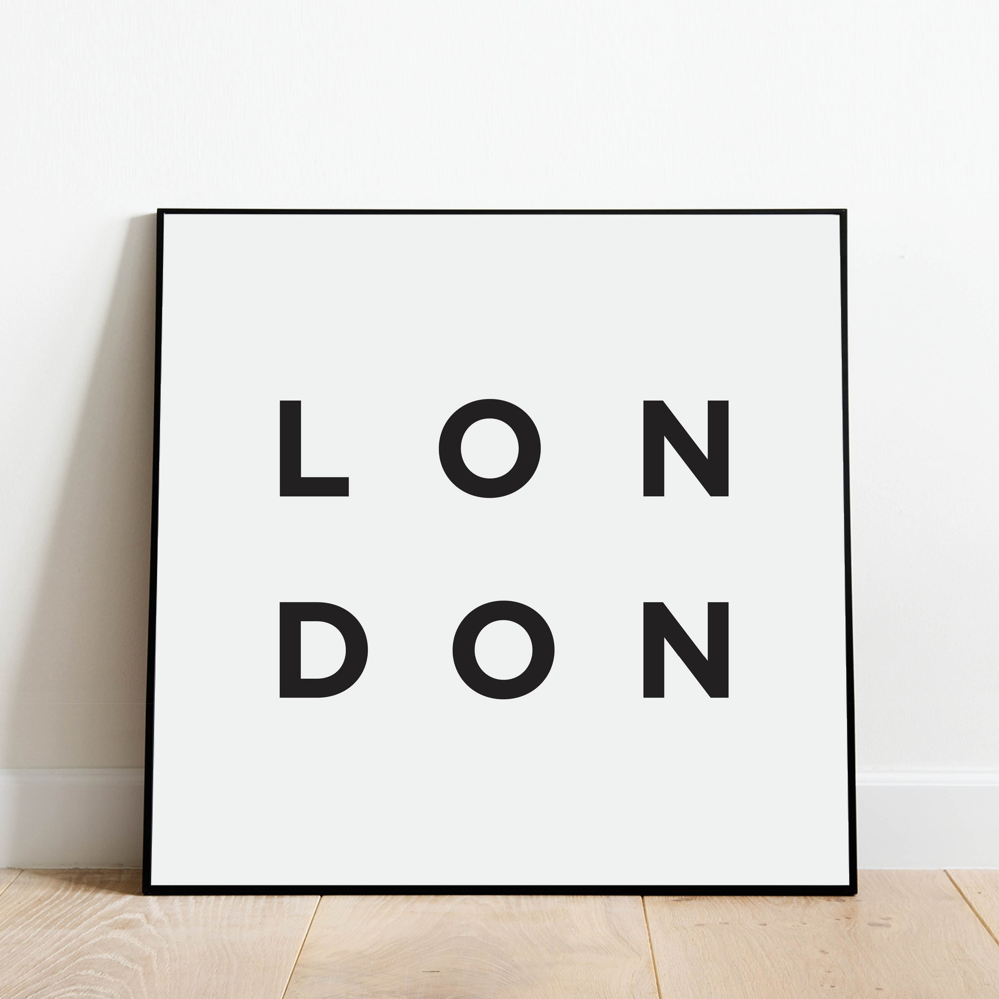 Minimalist London Print: Modern Art Prints by Culver and Cambridge