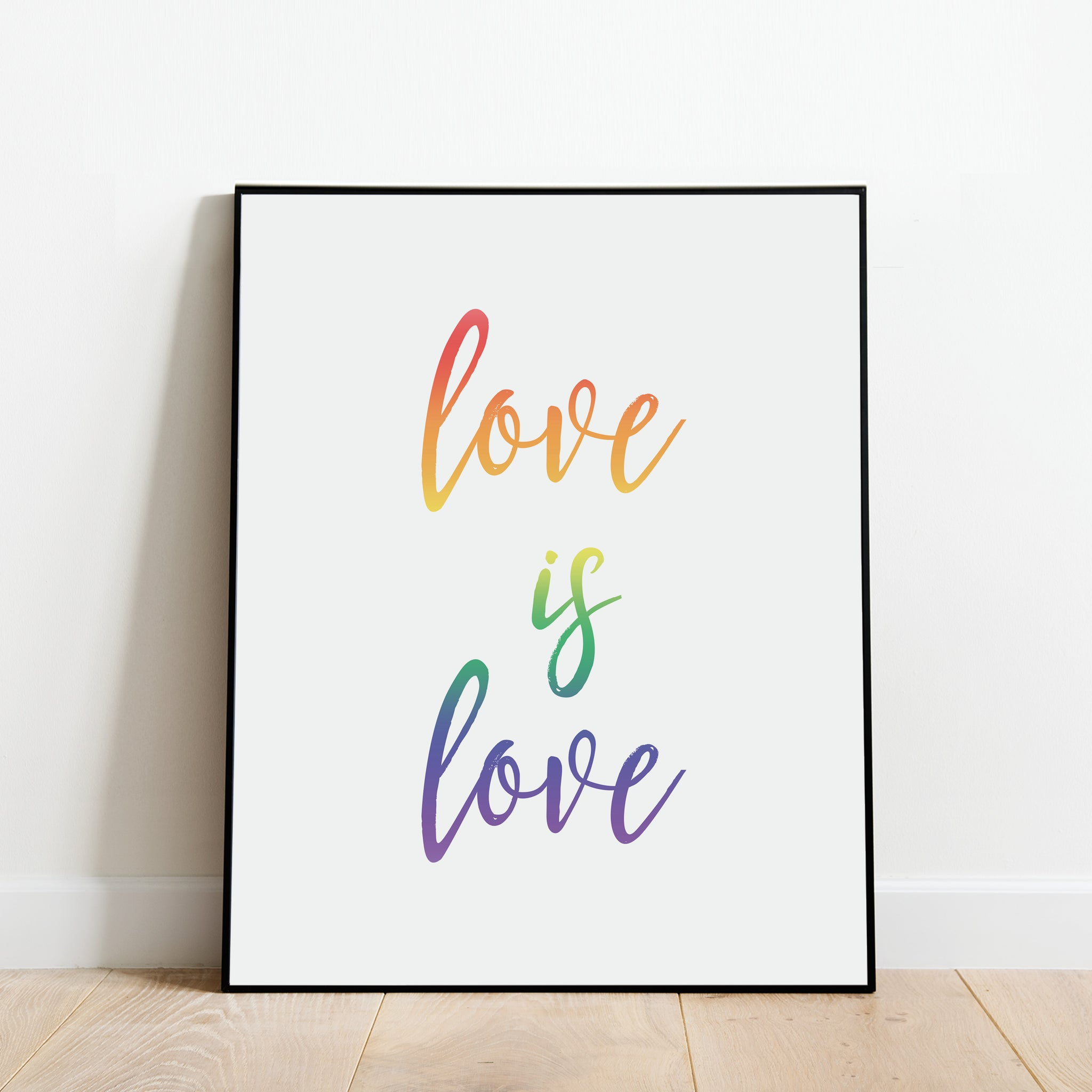 Love is Love Rainbow Print: Modern Art Prints by Culver and Cambridge