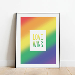 Love Wins Rainbow Print: Modern Art Prints by Culver and Cambridge