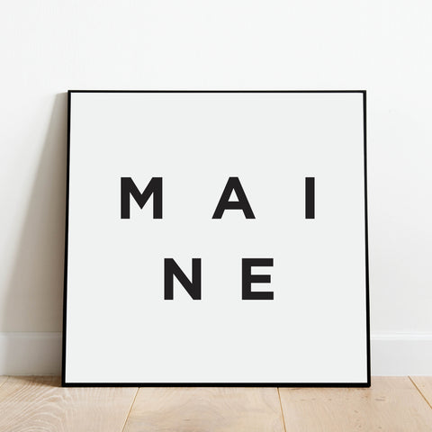 Minimalist Maine Print: Modern Art Prints by Culver and Cambridge