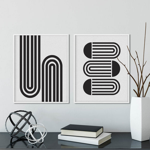 Set of Two Mid Century Modern Abstract Prints: Modern Art Prints by Culver and Cambridge