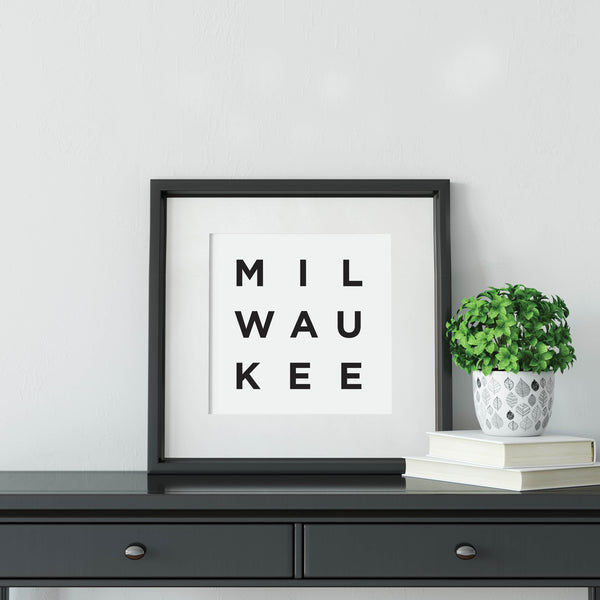 Minimalist Milwaukee Print: Modern Art Prints by Culver and Cambridge