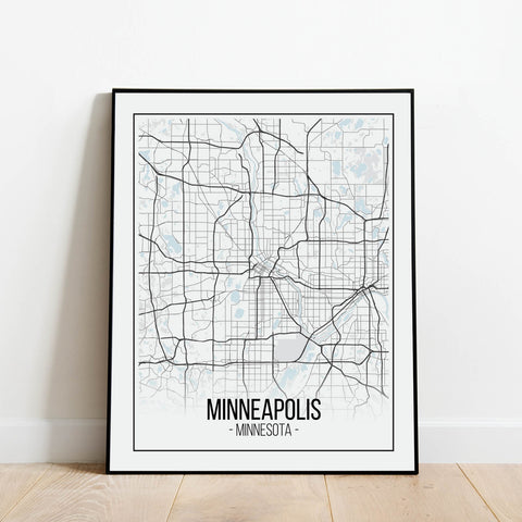 Minneapolis Map Print: Modern Art Prints by Culver and Cambridge