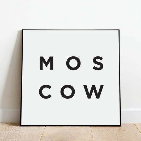 Minimalist Moscow Print: Modern Art Prints by Culver and Cambridge