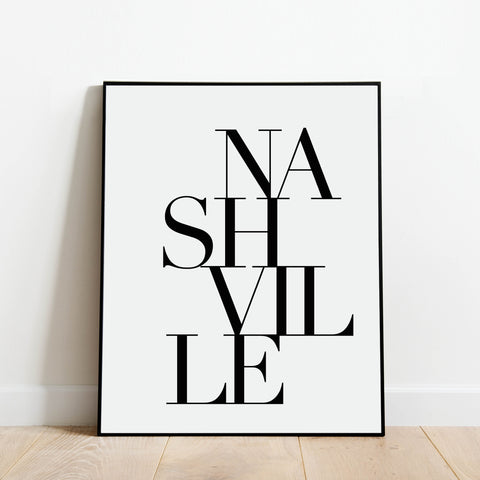 Serif Nashville Print: Modern Art Prints by Culver and Cambridge