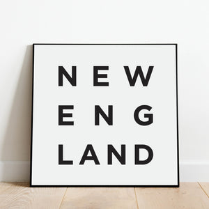 Minimalist New England Print: Modern Art Prints by Culver and Cambridge