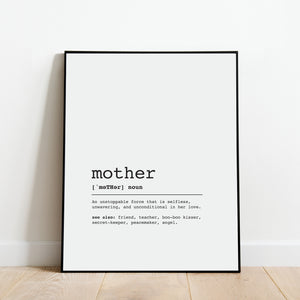 Mother Definition Print: Modern Art Prints by Culver and Cambridge