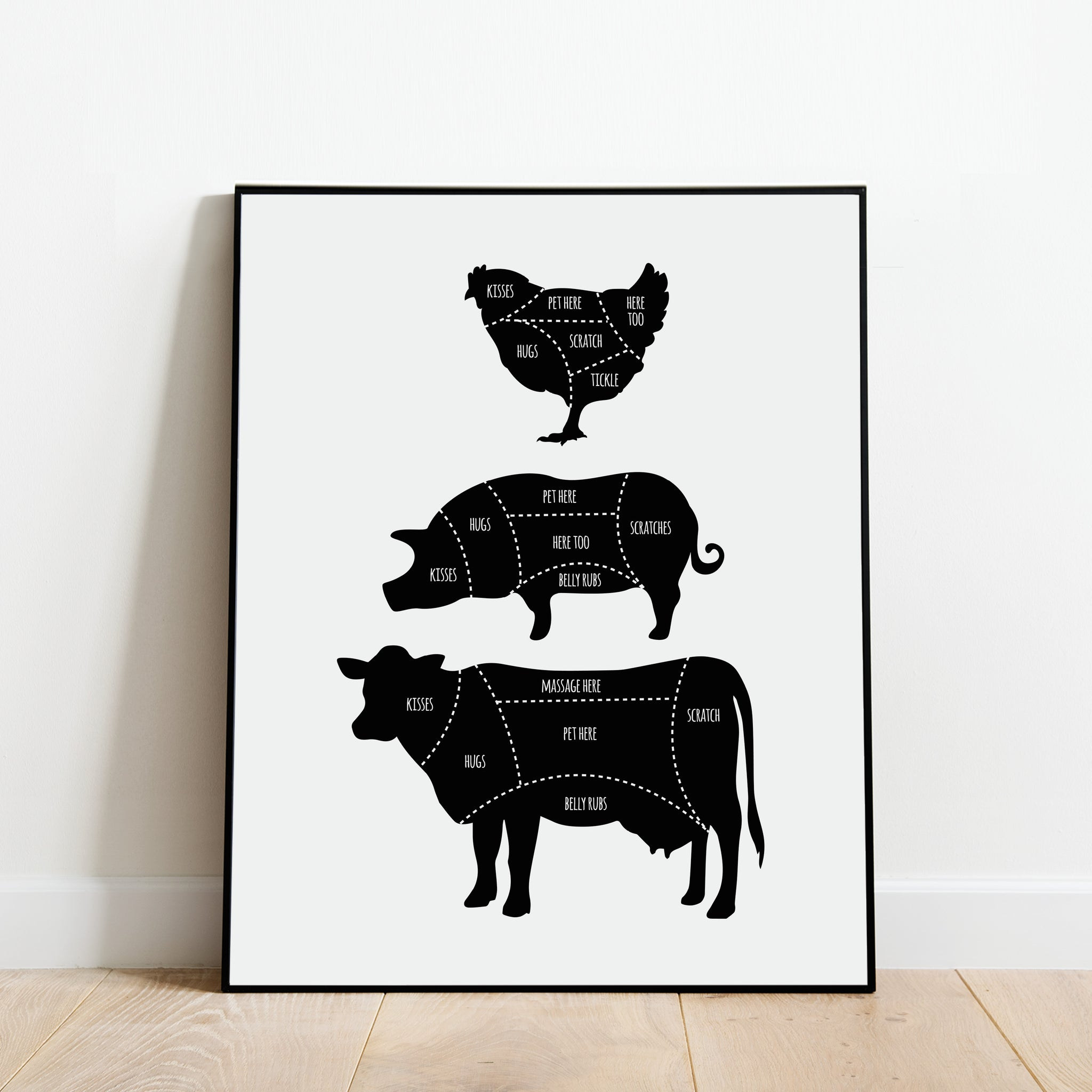 The Vegan Butcher Print - A cruelty-free vegan poster by Culver and Cambridge