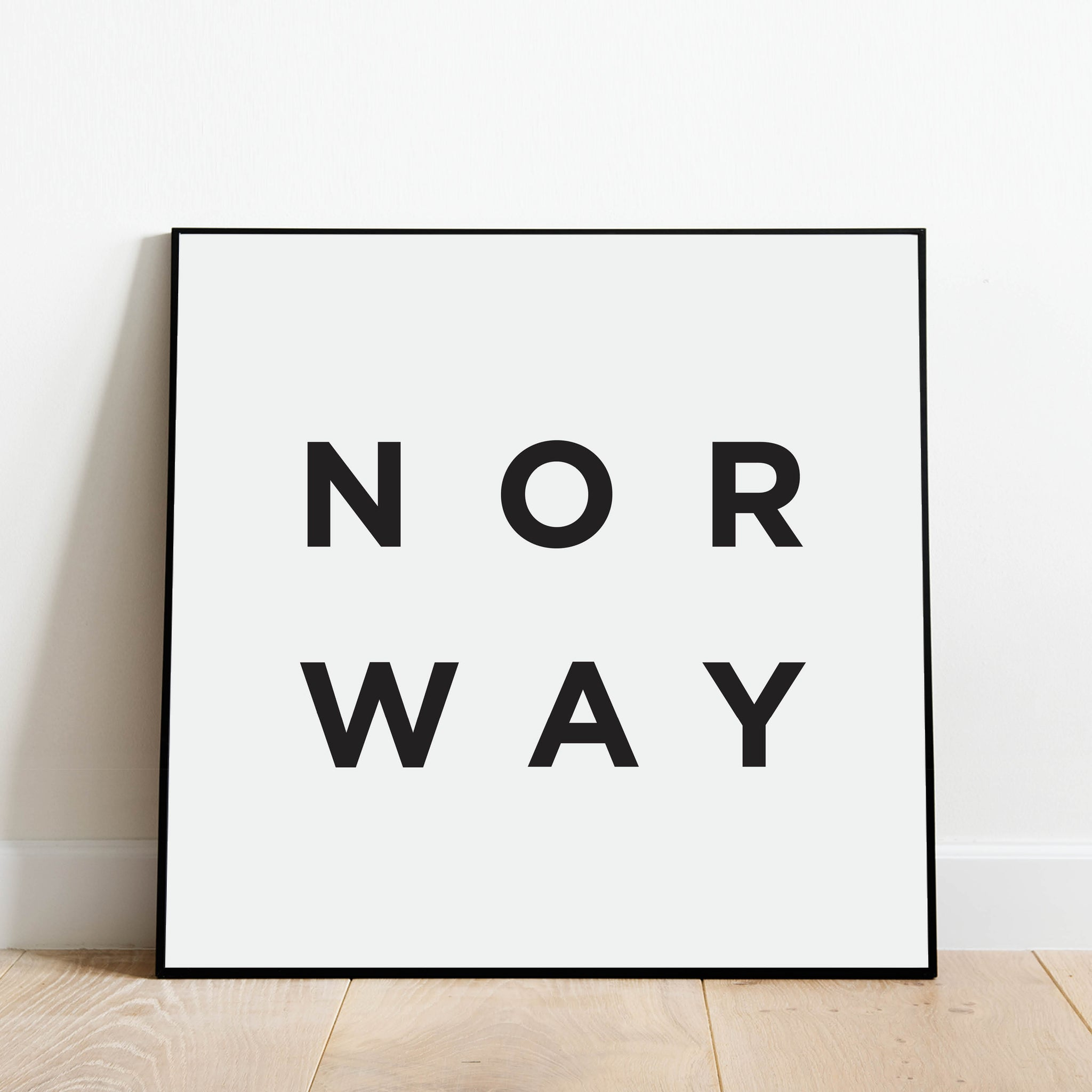 Minimalist Norway Print: Modern Art Prints by Culver and Cambridge