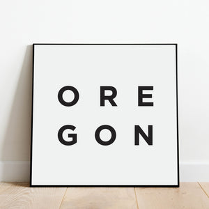 Minimalist Oregon Print: Modern Art Prints by Culver and Cambridge