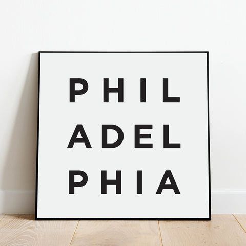 Minimalist Philadelphia Print: Modern Art Prints by Culver and Cambridge