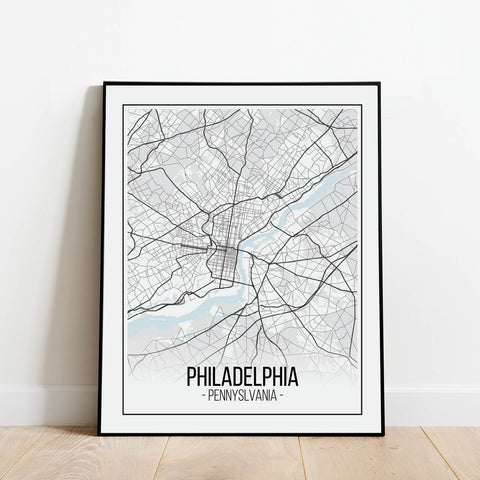 Philadelphia Map Print: Modern Art Prints by Culver and Cambridge