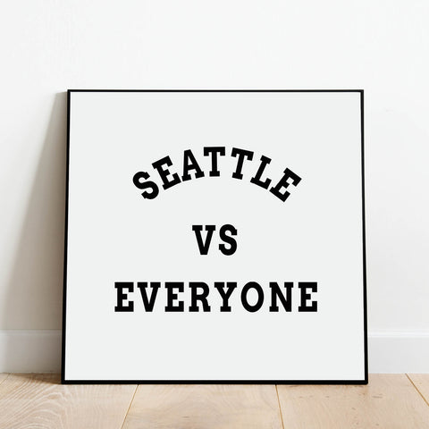 Seattle vs Everyone Print: Modern Art Prints by Culver and Cambridge