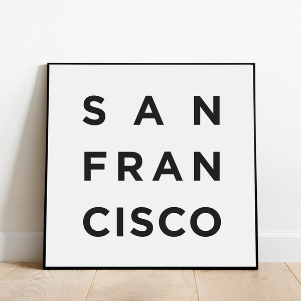 Minimalist San Francisco Print: Modern Art Prints by Culver and Cambridge