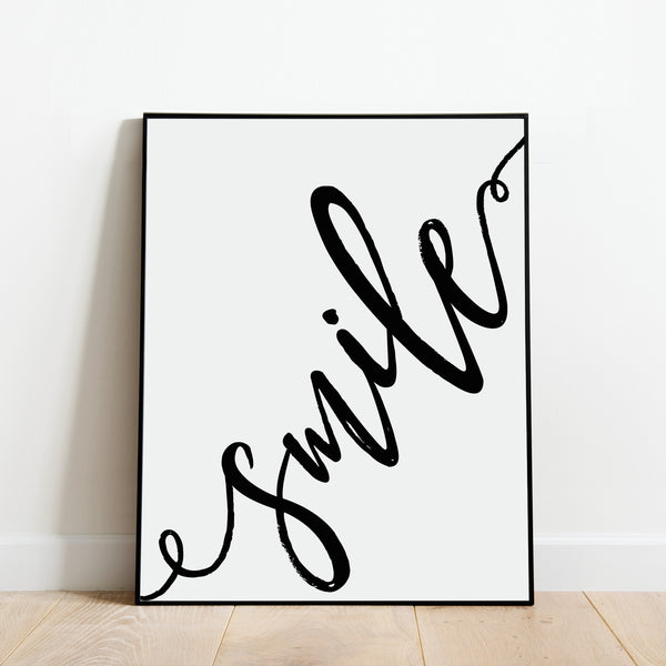 Smile Print: Modern Art Prints by Culver and Cambridge