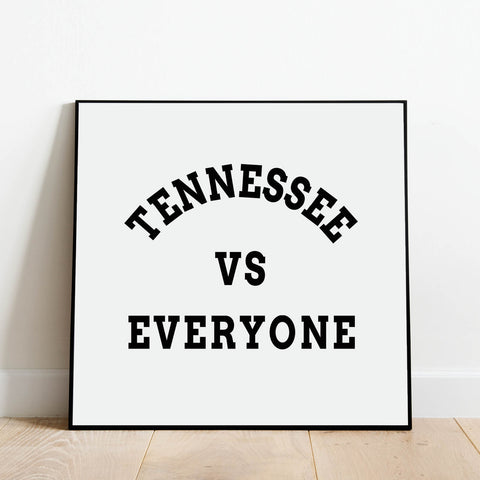 Tennessee vs Everyone Print: Modern Art Prints by Culver and Cambridge