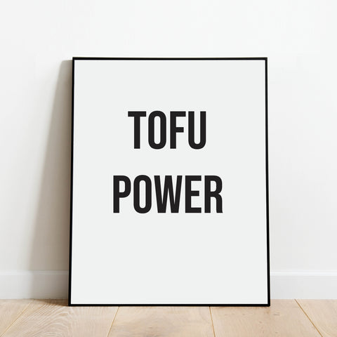 Tofu Power Print: Modern Art Prints by Culver and Cambridge