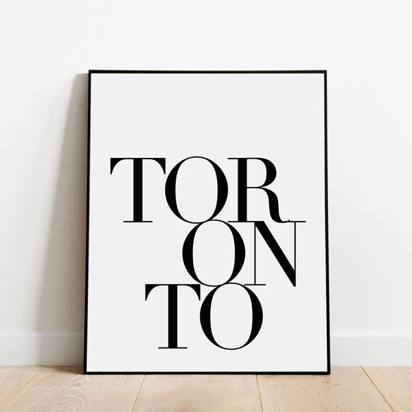 Serif Toronto Print: Modern Art Prints by Culver and Cambridge