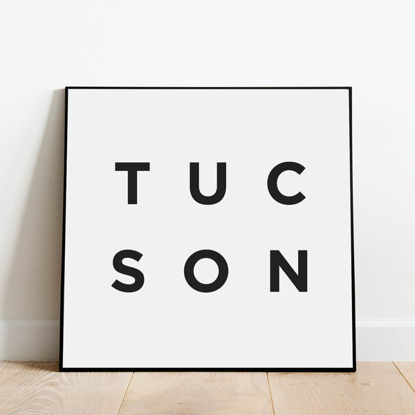 Minimalist Tucson Print: Modern Art Prints by Culver and Cambridge