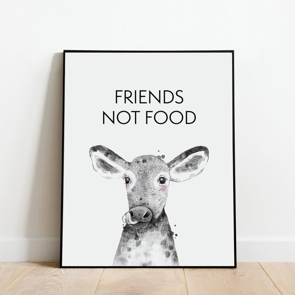 Friends Not Food Print: Modern Art Prints by Culver and Cambridge