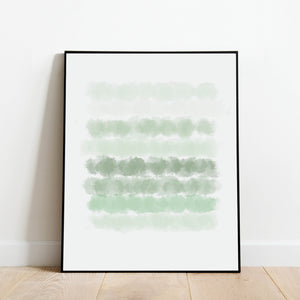Shades of Green Watercolor Print: Modern Art Prints by Culver and Cambridge