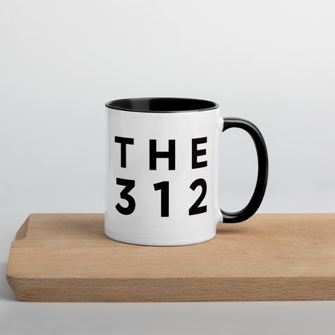 The 312 - Chicago Area Code Mug: Minimalist Art Prints and Gifts