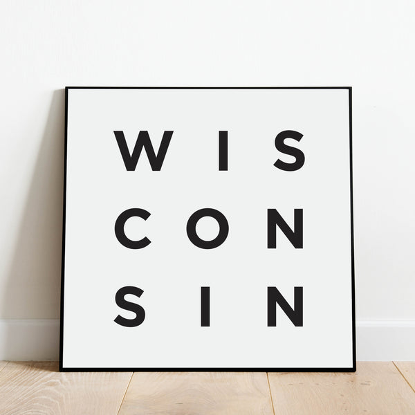 Minimalist Wisconsin Print: Modern Art Prints by Culver and Cambridge