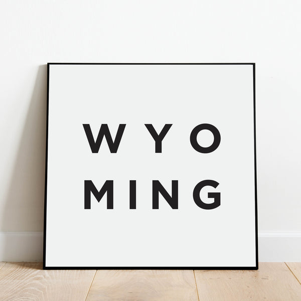 Minimalist Wyoming Print: Modern Art Prints by Culver and Cambridge