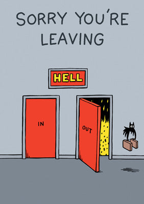 57AL02 - Sorry You're Leaving (Bat Out of Hell) Greeting Card