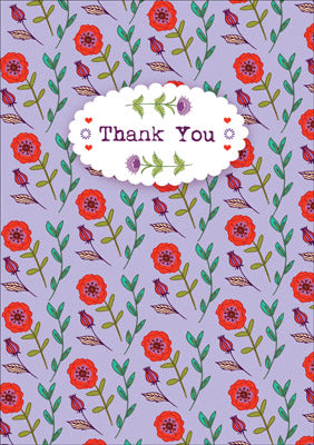 57AS02 - Thank You (Poppies) Greeting Card