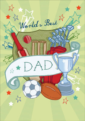57AS12 - Worlds Best Dad Greeting Card