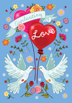 57AS25 - Everlasting Love Doves Greeting Card
