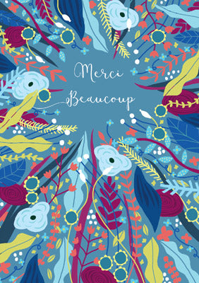 57BB19 - Merci Beaucoup Greeting Card