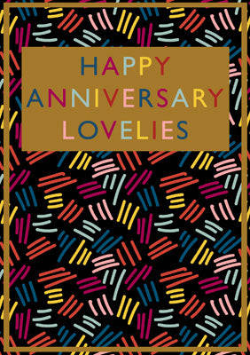 57BBS08 - Happy Anniversary Lovelies Greeting Card