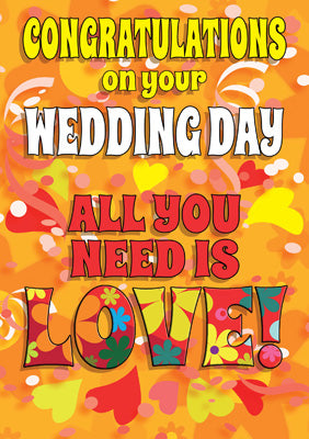 57FD01 - All You Need is Love Wedding Card