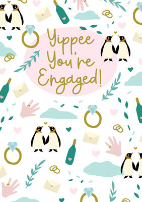 57JS12 - Yipee You're Engaged Greeting Card