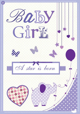 57MT08 - Baby Girl ( A Star is Born) Greeting Card