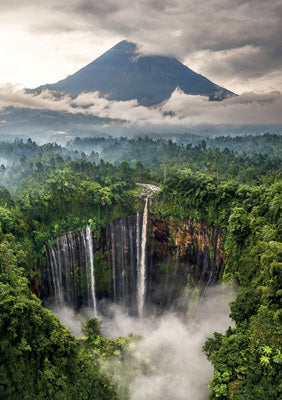 57SM86 - Tumpak Sewu Waterfall Indonesia Greeting Card