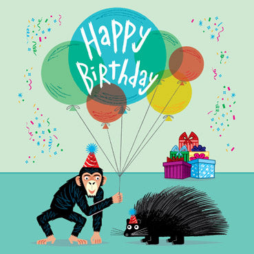 ADL141 - Party Animals Birthday Card