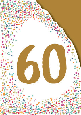AG807 - 60th Birthday (Foil and Die-Cut) Greeting Card